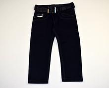 Детски панталон за момче - JARED - тъмно син с колан за 6 годишни