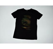 Мъжка тениска - CHASE - черна с акцент camouflage