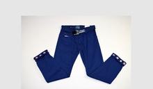Стилен панталон за момчета от 6 до 12 годишни - светло син с колан