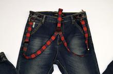 Модни дънки за момчета - BOY STUDIO - тъмно сини за 14 годишни