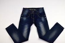 Дънки за момичета изчистен модел - ALEXI - сини за 8 години