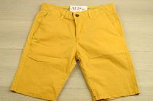 Модни мъжки къси панталони - MEN VOGUE SERIES - горчица