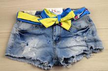Свежи къси дънкови панталонки - ABBI - светло сини
