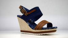 Летни дънкови сандали на платформа