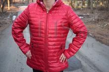Дамско пролетно - есенно яке с две лица RENY  ДО 4XL червено