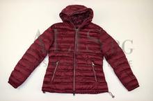Дамско яке с две лица големи размери- цвят бордо
