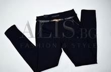 Дамски панталон голям размер - ANNA - тъмно син
