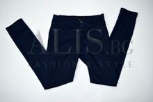 Дамски панталон голям размер - GRACE - тъмно син