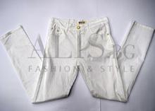 Дамски панталон голям размер - OLIVIA - бял