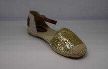 Комфортни дамски сандали - GOLD - златисти пайети
