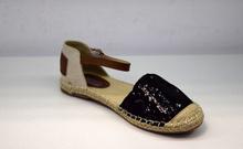 Комфортни дамски сандали - BLACK - черни пайети