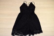 Дамски гащеризон тип къса рокля - EVA - черен