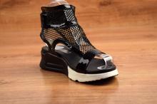 Мрежести сандали - MARIA - черни