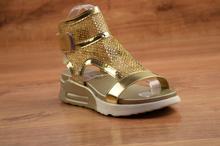 Мрежести сандали - MARIA - цвят злато