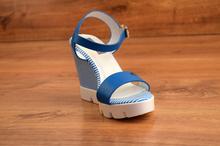 Страхотни дамски сандали - ALIS - морско сини