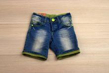 Къси дънки за момче - тъмно сини за 12 месеца