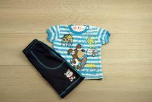 Комплект за момчета - SUNS SAND - син за 1-2 години