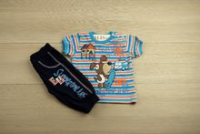 Детски комплект - SUN & SAND - тъмно син за 1-2 годишни