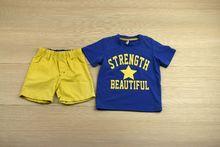 Комплект за момчета -  KIDS- жълт за 12 и 18 месечни
