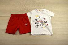 Комплект за момчета -  KID'S- червен за 12-18 месечни