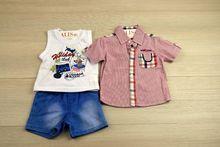 Комплект за момчета - BEST KID'S- розов за 3 месечни