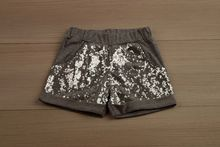 Спортни къси панталони - EMILY - сиви от 3 до 8 годишни