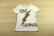 Блуза с къс ръкав - SONO FULMINATA - бяла за 8 годишни