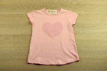 Детска блуза с къс ръкав - HEART - розова за 8-9 и  9-10 годишни