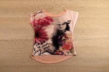 Детска блуза с къс ръкав - PERFECT - розова за 4 годишни