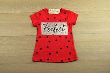 Детска блуза с къс ръкав - PERFECT - розова от 3 до 10 годишни