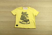 Детска тениска - BOY - жълта от 1 до 7 годишни