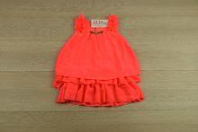 Стилна детска рокля - корал за 2, 4, 8 годишни