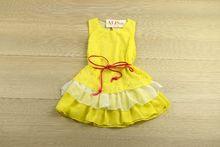 Красива детска рокля - SMILE YES - жълта за 4, 8, 10 годишни