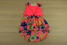 Детска рокля с колие - PINK GIRL - розова за 2 и 8 годишни