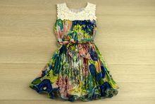 Пролетно/лятна детска рокля - синя за 4 и 8 годишни