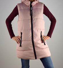 Дамска грейка - 1006 - розова с качулка