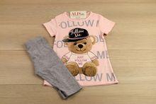 Детски комплект момиче - FOLLOW ME - розов за 4 годишни