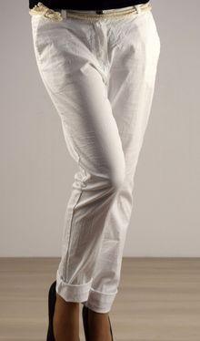Ефирен дамски панталон - 029 - бял