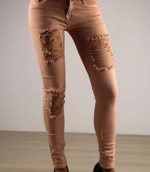 Моден дамски панталон - 031 - розов