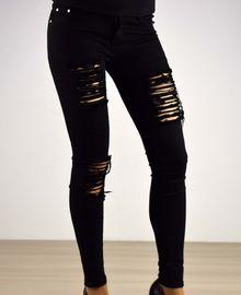 Моден дамски панталон - 031 - черен