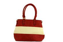 Цветна дамска чанта - TRICOLOR - червена
