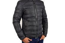 Мъжко зимно яке - 1116 - тъмно сиво