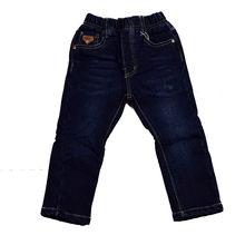 Зимни дънки за момчета от 1 до 5 годишни - тъмно сини