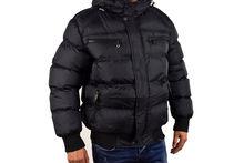 Мъжко зимно яке - 1129 - черно до 5 XL