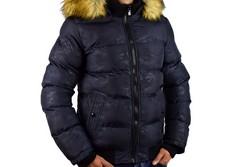 Зимно мъжко яке - 1130 - тъмно синьо