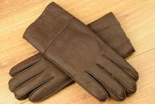 Дамски ръкавици естествена кожа с дебела вата код 031-кафяви