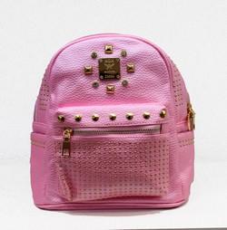 Дамска раница - 9016 - розова - еко кожа