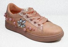 Дамски кецове с камъни - 6002 - розови