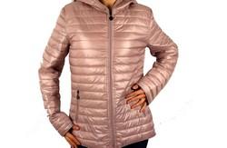 Дамско яке с две лица големи размери сезон пролет - есен - 1523 - розово