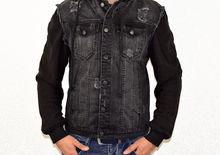 Мъжко дънково яке - 1123 - черно